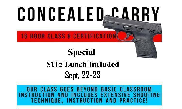 Concealed Carry Class Photo